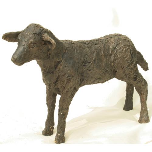 Standing Lamb a bronze sculpture by Kate Denton