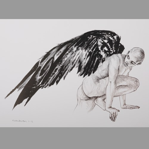 Icarus Study 2 a Lithograph by Kate Denton