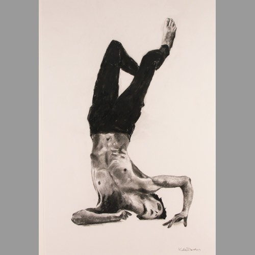 Foolish a Charcoal Drawing part of the Icarus Series by Kate Denton