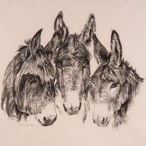 Charlie&Chums a drawing by Kate Denton