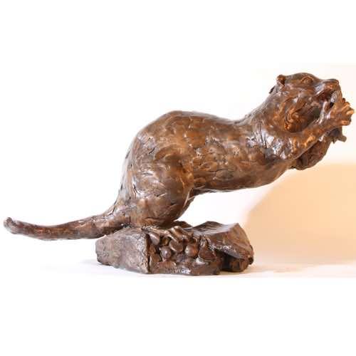 Eating Otter by Kate Denton at Lavenham Hall Galleries