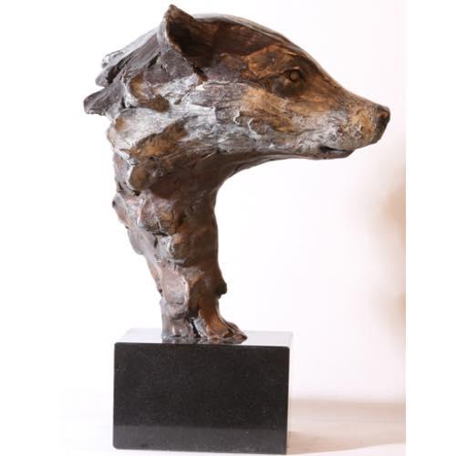 Badger Head by Kate Denton