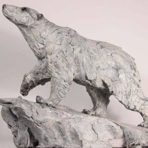 Polar Bear Hunting in Bronze by Kate Denton of Lavenham Hall Galleries