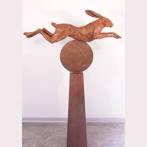 Over the moon a bronze sculpture by Kate Denton