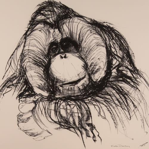 A Orang-Utan print by Kate Denton
