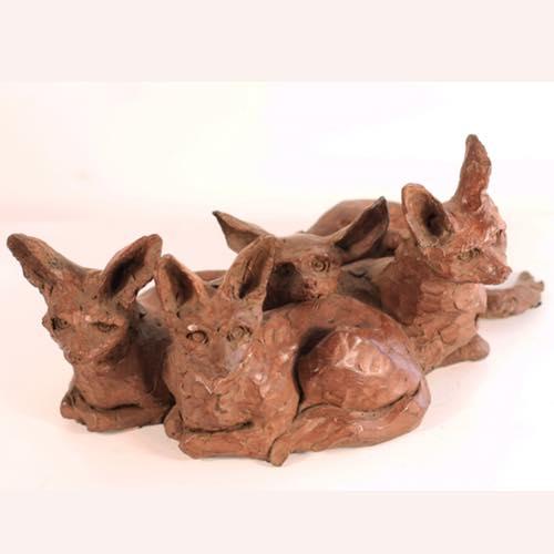 Desert Foxes by Kate Denton of Lavenham Hall Gallery