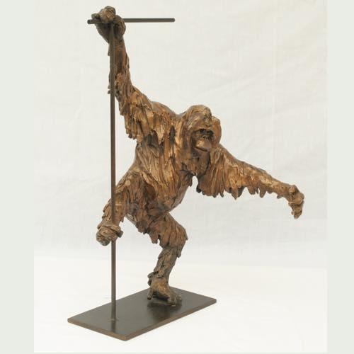 Orang-Utan an african sculpture by Kate Denton of Lavenham Hall Galleries